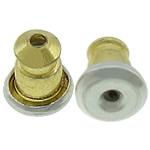 Ear tunxh Nut Komponenti, Shape Tjera, i praruar, asnjë, dy-ton, , nikel çojë \x26amp; kadmium falas, 5x6mm, : 0.8mm, 3000PC/Shumë,  Shumë