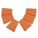 Varëse Bruz, Bruz sintetike, Trapez, asnjë, asnjë, kuq pak portokalli, 21x25x5mm, : 1.2mm, 10Sets/Shumë, 6pcs/set,  Shumë