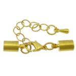 Karavidhe tunxh Claw Cord kapje, Shape Tjera, ngjyrë ari praruar, asnjë, asnjë, , nikel çojë \x26amp; kadmium falas, 34mm, 10x5mm, : 4.5mm, 200Sets/Shumë,  Shumë