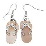 Një palë vathë Shell, Pink Shell, with Tunxh, Këpucët, ngjyrë platin praruar, asnjë, asnjë, 40mm, 12x22x2mm, 20Çiftet/Shumë,  Shumë