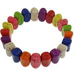 Natyrore Bruz Cabochon, Bruz sintetike, Shape Tjera, i lyer, asnjë, multi-colored, 9x14x9mm, : 1mm, :7.5Inç, 30Fillesat/Shumë,  Shumë