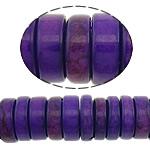 Bruz Beads, Bruz Natyrore, Rondelle, i lyer, asnjë, vjollcë, 10x3mm, : 1mm, :15.5Inç, 10Fillesat/Shumë, 128pcs/strand,  Shumë