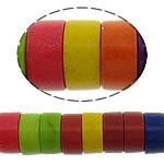 Bruz Beads, Bruz sintetike, Rondelle, i lyer, asnjë, ngjyra të përziera, 7x3mm, : 1mm, :16Inç, 20Fillesat/Shumë, 133pcs/strand,  Shumë