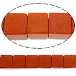Bruz Beads, Bruz sintetike, Kub, i lyer, asnjë, kuq pak portokalli, 5x5mm, : 1mm, :16Inç, 40Fillesat/Shumë, 94pcs/strand,  Shumë