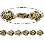 Bruz Beads, Bruz sintetike, Breshkë, i lyer, asnjë, e bardhë, 19x15x7mm, : 1mm, :16Inç, 40Fillesat/Shumë, 24pcs/strand,  Shumë