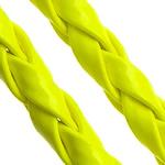 Cord lëkure, PU, Shape Tjera, asnjë, asnjë, i verdhë, 4mm, 100m/Shumë,  Shumë