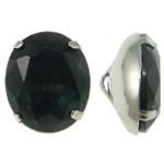 Beads bizhuteri bronzi, Tunxh, with Xham, Oval, ngjyrë platin praruar, asnjë, asnjë, , nikel çojë \x26amp; kadmium falas, 10x12x6.50mm, : 1x2mm, 10PC/Qese,  Qese