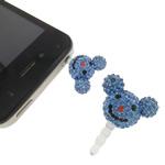 Pluhuri kufje Jack Cap priza, Argjilë, with Plastik, Mickey Mouse, asnjë, me diamant i rremë, dritë blu, 23x29x13mm, 10PC/Qese,  Qese