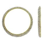 Bizhuteri tunxh Gjetja, Petull e ëmbël në formë gjevreku, ngjyrë ari praruar, me diamant i rremë, asnjë, , nikel çojë \x26amp; kadmium falas, 58x5mm, : 48mm, 2PC/Qese,  Qese