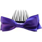 Combs dekorative Flokët, Saten Ribbon, with Plastik, asnjë, asnjë, vjollcë, 9.5x4cm, 8.5cm, 55PC/Shumë,  Shumë