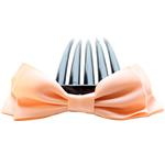 Combs dekorative Flokët, Saten Ribbon, with Plastik, asnjë, asnjë, kajsi, 9.5x4cm, 8.5cm, 55PC/Shumë,  Shumë