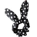 Elastike Hair, Silk pe, Shape Tjera, elastik, me model të rrumbullakët spot, e zezë, 14.5x6cm, 30PC/Shumë,  Shumë