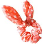 Elastike Hair, Silk pe, Shape Tjera, elastik, me model të rrumbullakët spot, dritë e kuqe, 14.5x6cm, 30PC/Shumë,  Shumë