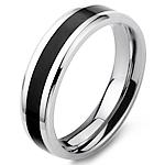 Çeliku Stainless Ring Finger, Stainless Steel, Shape Tjera, stoving llak, për njeriun, ngjyra origjinale, 6mm, :7.5,  PC