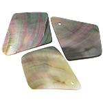 Pendants Natyrore Zi Shell, Black Shell, Shape Tjera, asnjë, asnjë, asnjë, 39x50x2mm, : 2mm, 50PC/Shumë,  Shumë