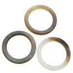 Beads Zi Shell, Black Shell, Petull e ëmbël në formë gjevreku, asnjë, asnjë, asnjë, 20x20x2mm, : 14mm, 100PC/Shumë,  Shumë