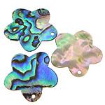 Pendants Natyrore predhë guaskë, Shell Guaskë, Lule, asnjë, asnjë, asnjë, 25x23x1-2mm, : 1mm, 30PC/Shumë,  Shumë