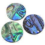 Pendants Natyrore predhë guaskë, Shell Guaskë, Round Flat, asnjë, asnjë, asnjë, 19x19x1-2mm, : 1.5mm, 50PC/Shumë,  Shumë
