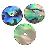 Pendants Natyrore predhë guaskë, Shell Guaskë, Round Flat, asnjë, asnjë, asnjë, 15x15x1-3mm, : 2mm, 100PC/Shumë,  Shumë