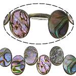 Beads predhë guaskë, Shell Guaskë, Oval Flat, asnjë, asnjë, asnjë, 13x18x2.50mm, : 0.7mm, : 16Inç, 2Fillesat/Shumë, 34Pcs/Strand,  Shumë