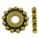 Alloy zink, Lule, Ngjyra antike ari praruar, asnjë, asnjë, , nikel çojë \x26amp; kadmium falas, 11.5x2mm, : 3mm, 995PC/KG,  KG