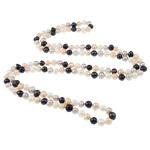 Natyrore ujërave të ëmbla Pearl gjerdan, Pearl kulturuar ujërave të ëmbla, Shape Tjera, i lyer, asnjë, 8-9mm, :47Inç,  47Inç,