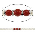 Button Beads ujërave të ëmbla kulturuar Pearl, Pearl kulturuar ujërave të ëmbla, with Red agat & Tunxh, Shape Tjera, natyror, asnjë, 8-9mm, 8-10mm, : 0.8-2mm, :15.7Inç,  15.7Inç,