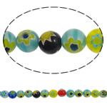 Glass Beads Chevron, Glass Chevron, Round, punuar me dorë, asnjë, ngjyra të përziera, 8mm, : 1mm, : 15Inç, 10Fillesat/Shumë, approx 50pcs/strands,  Shumë
