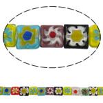 Glass Beads Chevron, Glass Chevron, Katror, punuar me dorë, asnjë, ngjyra të përziera, 10x4mm, : 1mm, : 15Inç, 10Fillesat/Shumë, approx 40pcs/strands,  Shumë