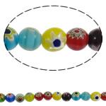 Glass Beads Chevron, Glass Chevron, Round, punuar me dorë, asnjë, ngjyra të përziera, 10mm, : 1mm, : 15.3Inç, 10Fillesat/Shumë, approx 40pcs/strands,  Shumë