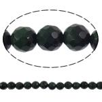 Syri Tiger Beads, Round, natyror, faceted, 10mm, : 1mm, :15.7Inç, 5Fillesat/Shumë,  Shumë