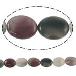 Beads kuarc bizhuteri, Rainbow kuarc, Oval, natyror, asnjë, 15x20x7mm, : 2mm, :15.7Inç, 5Fillesat/Shumë,  Shumë
