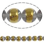 Beads kuarc bizhuteri, Kuarc Natyrore, Round, gjysmë-kromuar, asnjë, 12mm, : 2mm, :15.5Inç, 5Fillesat/Shumë,  Shumë