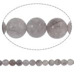 Beads kuarc bizhuteri, Grey kuarc, Round, natyror, asnjë, 6mm, : 1mm, :15.5Inç, 5Fillesat/Shumë,  Shumë