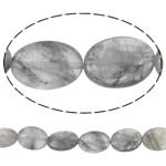 Beads kuarc bizhuteri, Grey kuarc, Oval Flat, natyror, asnjë,  13.5x18x6mm, : 1mm, :15.7Inç, 5Fillesat/Shumë,  Shumë