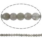 Beads labradorite, Round, natyror, faceted, 4mm, : 0.5mm, :16Inç, 5Fillesat/Shumë,  Shumë
