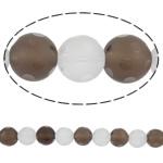 Beads kuarc bizhuteri, Kuarc Natyrore, Round, natyror, punuar me dorë faceted, 12mm, : 1.5mm, :15.7Inç, 5Fillesat/Shumë,  Shumë