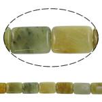 Beads Jade, Jade Xiuyan, Drejtkëndësh, natyror, asnjë, 18x25x7mm, : 1.5mm, :15.7Inç, 5Fillesat/Shumë,  Shumë