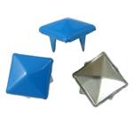 Iron Claw Rivet, Hekur, Katror, pikturë, 4 thua, dritë blu, , nikel çojë \x26amp; kadmium falas, 9mm, 1000PC/Qese,  Qese