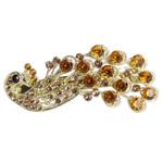 Flokeve barrettes, Alloy zink, Pallua, ngjyrë ari praruar, me diamant i rremë, asnjë, , nikel çojë \x26amp; kadmium falas, 68x30mm, 15PC/Shumë,  Shumë