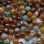 Beads Jadite, Round, natyror, qetë, 4.5-5mm, 20PC/Qese,  Qese