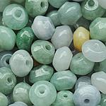 Beads Jadite, Shape përziera, natyror, asnjë, 9x6mm, 20PC/Qese,  Qese