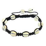 Shamballa Bracelets gur i çmuar, Deti Opal, with Cord najlon, Shape Tjera, asnjë, asnjë, e zezë, 10mm, :7.5-12.5Inç, 30Fillesat/Shumë,  Shumë