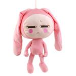 Cushion Moda, Velveteen, Lepur, punuar me dorë, rozë, 24.5x76cm,  PC