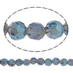 Swarovski Crystal Beads, Round, colorful kromuar, faceted, asnjë, 6mm, : 1mm, : 15.5Inç, 72PC/Fije floku,  15.5Inç,