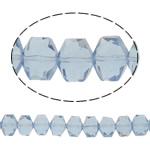 Swarovski Crystal Beads, Shape Tjera, asnjë, faceted, dritë blu, 10x8x6mm, : 1mm, : 16Inç, 50PC/Fije floku,  16Inç,