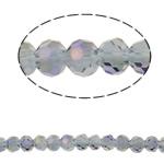 Swarovski Crystal Beads, Round, colorful kromuar, faceted, asnjë, 4mm, : 1mm, : 13.7Inç, 100PC/Fije floku,  13.7Inç,