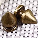 Alloy zink Claw Rivet, Plumb, Ngjyra antike bronz i praruar, asnjë, asnjë, , nikel çojë \x26amp; kadmium falas, 7x13mm, 100Sets/Qese,  Qese