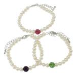 Pearl kulturuar ujërave të ëmbla, with diamant i rremë Shtrim bead, Shape Tjera, natyror, ngjyra të përziera, 8mm, :6Inç, 10Fillesat/Qese,  Qese