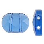 Imitim Swarovski Crystal Beads, Kristal, Oval, asnjë, faceted & imitim kristal Swarovski & double-vrimë, Akuamarin, 10.50x15x5.50mm, : 1mm, 50PC/Qese,  Qese